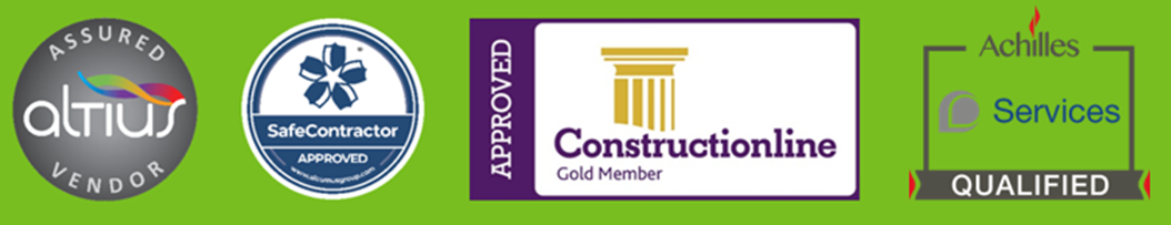 We're approved by industry bodies: Construction Line, Altius, SafeContractor