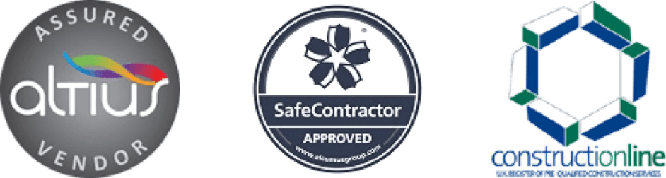 We're approved by industry bodies: Construction Line, Atius, SafeConductor